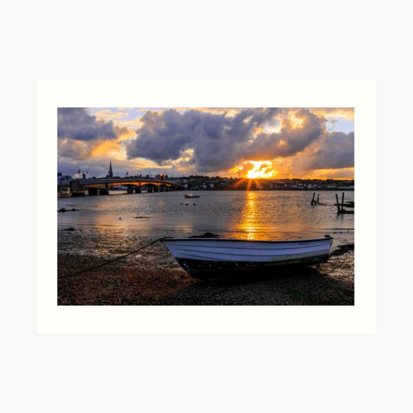 Sunset Over Wexford Town Art Print