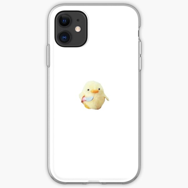 Chicken with a knife meme iPhone Soft Case