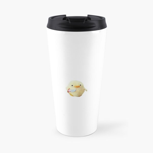 Chicken with a knife meme Travel Mug