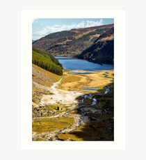 Glendalough Vale & Upper Lake Art Print