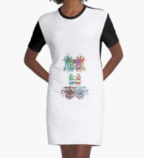 Molecular Structure of Ion Channels Graphic T-Shirt Dress