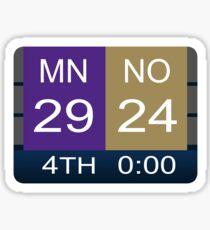 Minneapolis Miracle Minnesota Vikings Sticker