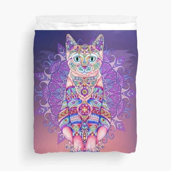 Cat Mandala Duvet Cover