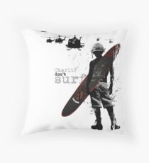 Charlie Don't Surf Throw Pillow
