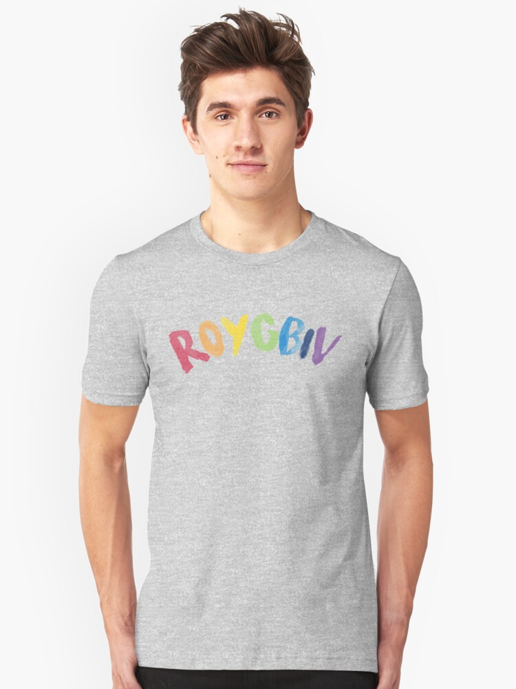 ROYGBIV Rainbow Colors Artistic Artists Painters Graphic Tee Shirt Unisex T-Shirt Front