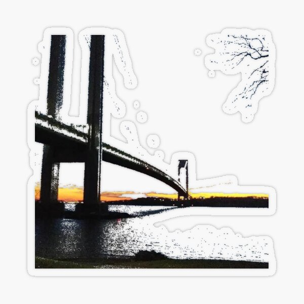 Verrazzano-Narrows Bridge Transparent Sticker