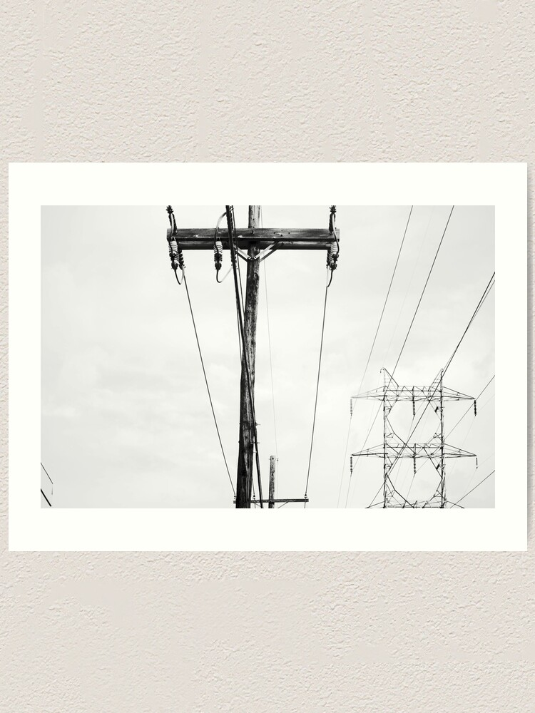 Alternate view of Power Lines Art Print