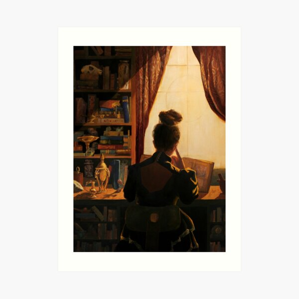 A Pensive Young Witch's Study Art Print