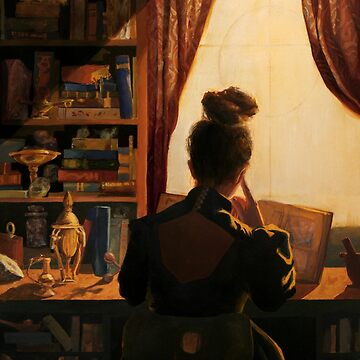 A Pensive Young Witch's Study by EricaBottger