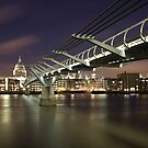London Millenium Bridge. by Teddy  Sugrue