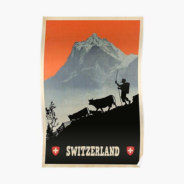 Switzerland, Vintage Travel Poster Poster