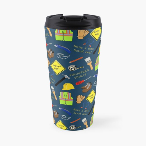 Volunteer construction blue Travel Mug