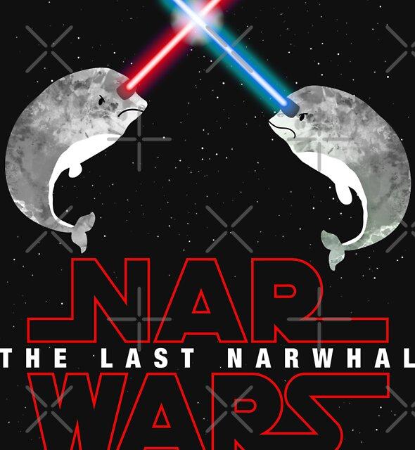 Nar Wars Narwhal Saber Light Star Wars Fans Parody by DesIndie
