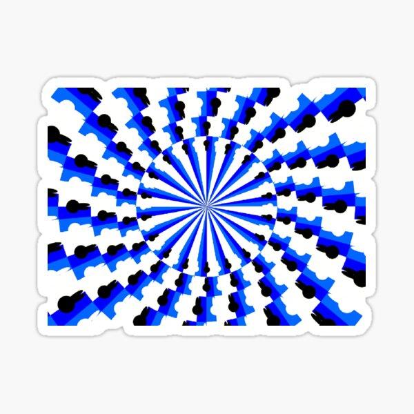 Illusion Pattern #blue #symmetry #circle #abstract #illustration #pattern #design #art #shape #bright #modern #horizontal #colorimage #royalblue #inarow #textured Sticker