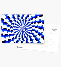 Illusion Pattern #blue #symmetry #circle #abstract #illustration #pattern #design #art #shape #bright #modern #horizontal #colorimage #royalblue #inarow #textured Postcards