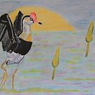 Wandering Jacana by Wendy Sinclair