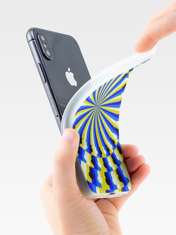 Alternate view of Illusion Pattern - Optical Illusion Spinner iPhone Case