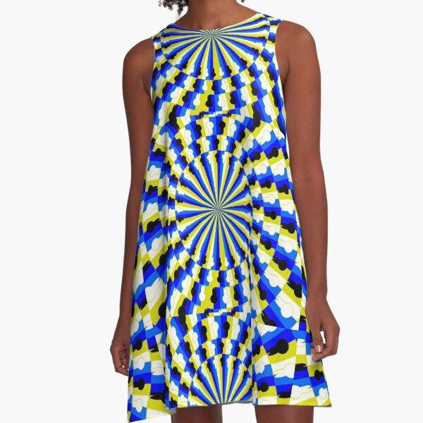 Illusion Pattern A-Line Dress