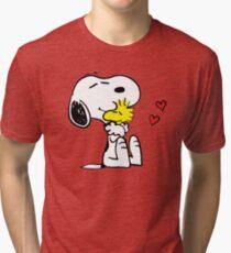 Snoopy Woodstock Peanuts Tri-blend T-Shirt