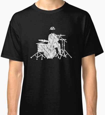 Jazz Drummer Grunge Style Classic T-Shirt