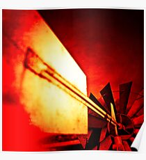 Garden Windmill Vane and Tail Flame Poster