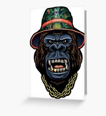 Urban Gorilla Greeting Card