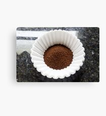 Coffee Grounds Filter Canvas Print