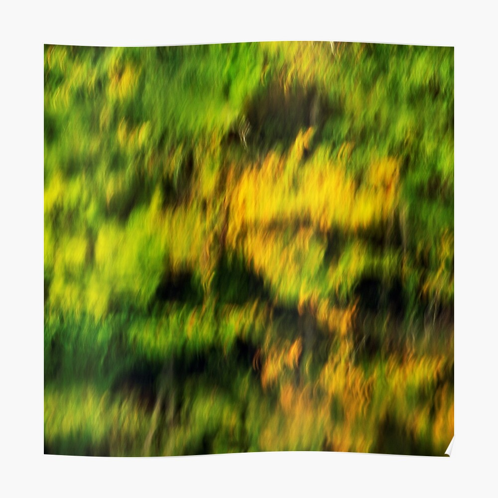 Abstract autumn colours reflected in the river Poster