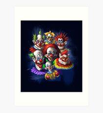 Scary Clowns Art Print