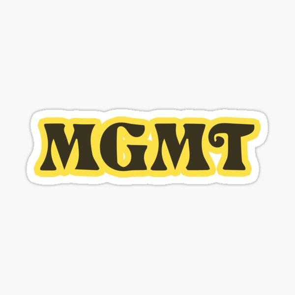 MGMT Little Dark Age Album Logo Merch Sticker