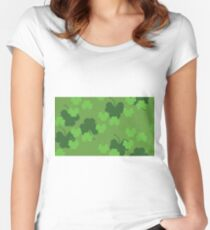 Shamrock or clover 4 Women's Fitted Scoop T-Shirt