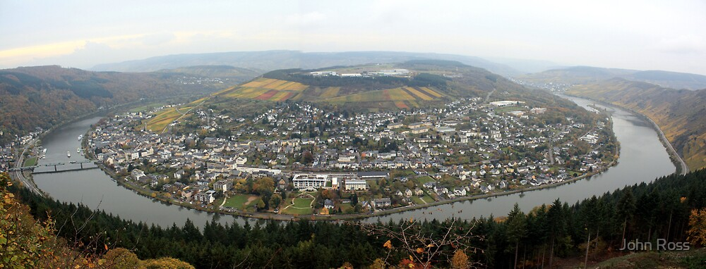 Traben-Trarbach Panorama, Germany by John Ross