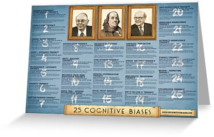 25 Cognitive Biases Poster by 25cognitivebias