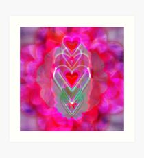 The Hearts Mantra Art Print