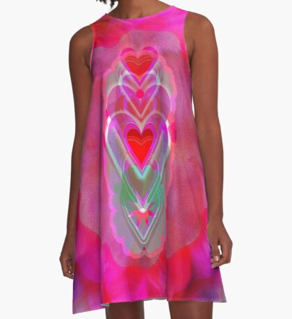 The Hearts Mantra A-Line Dress