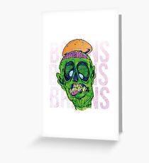 Brains Brains Brains Greeting Card