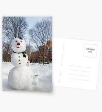 Snowbound Red Sox Fans Postcards
