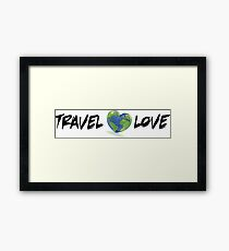 Travel Love I Framed Print