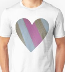 Wood Grain Heart for St Valentine's Day Unisex T-Shirt
