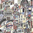 London blooms cityscape by Miles Design Art