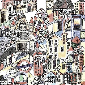 London blooms cityscape by milesdesignart