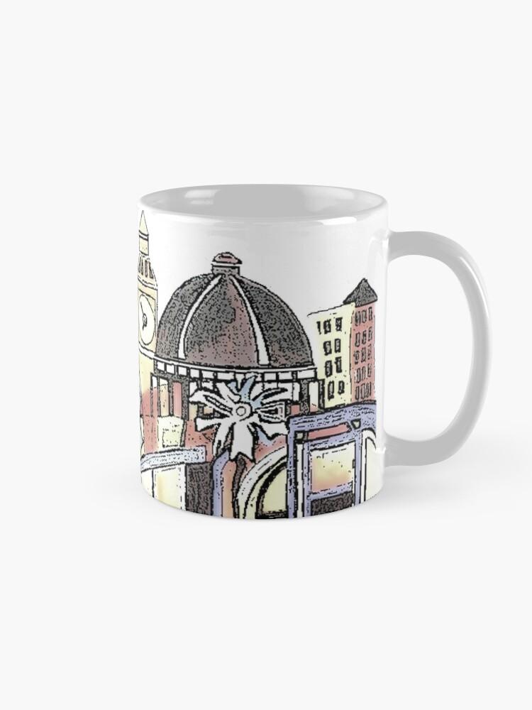Alternate view of London blooms cityscape Mug