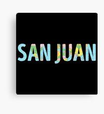 San Juan World Map - Cool Puerto Rico Traveler Gift Canvas Print