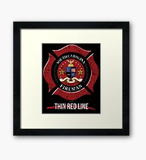 South Carolina Firefighter Shirt Firefighter Gift Framed Print
