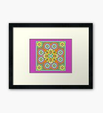 Ethnic Decorative Heart Border Print Framed Print