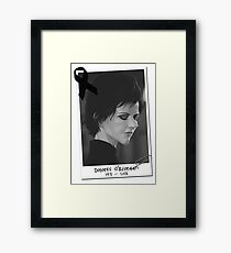 DOLORES O'RIORDAN TRIBUTE Framed Print