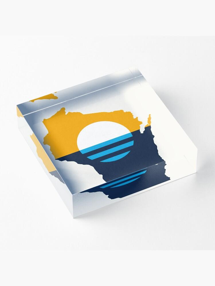 Alternate view of Milwaukee Wisconsin Acrylic Block