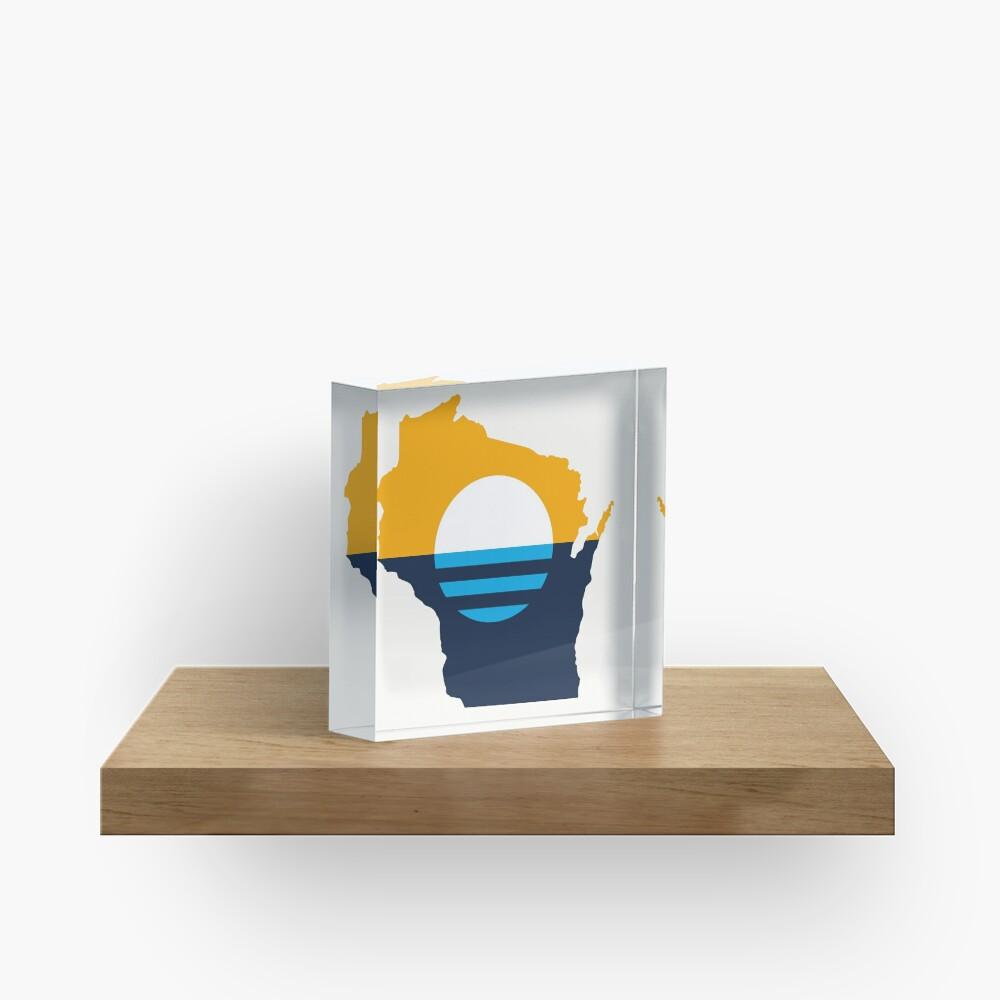 Milwaukee Wisconsin Acrylic Block
