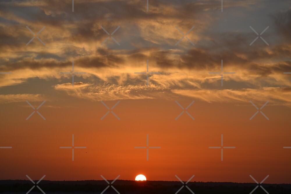 Stone Harbor Point Sun On Horizon by ANNAKUCZYNSKI