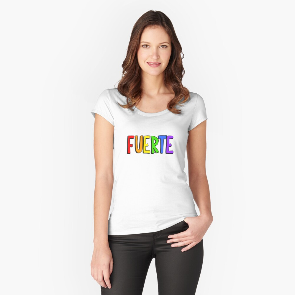 Fuerte - Rainbow Fitted Scoop T-Shirt